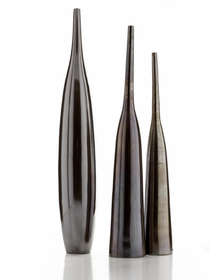 HORNS e BULLET- CERAMIC VASE MADE IN ITALY